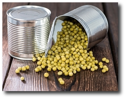 canned peas Food Stockpiling Can Actually Free Up Some of Your Budget!