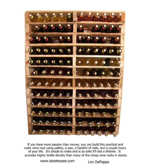 Do It Yourself Wine Rack 500x571 Alcohol Storage: Why Not Stockpile a Few Luxuries?