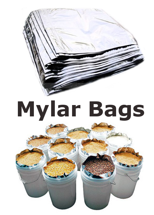 Mylar bags How to Best Organize Your Food Stockpile