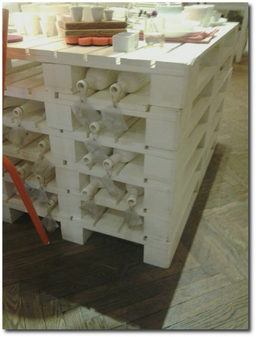 Pallets turned wine rack. 500x659 Alcohol Storage: Why Not Stockpile a Few Luxuries?